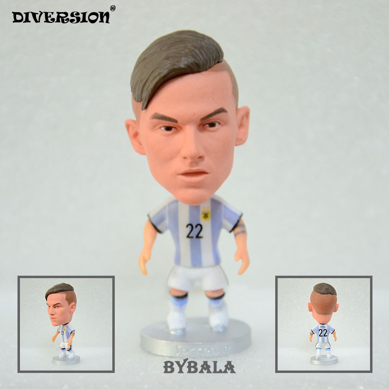 DIVESION dolls figurine football stars Dybala 2016-2017 ARG Movable joints resin model toy action figure dolls collectible gift