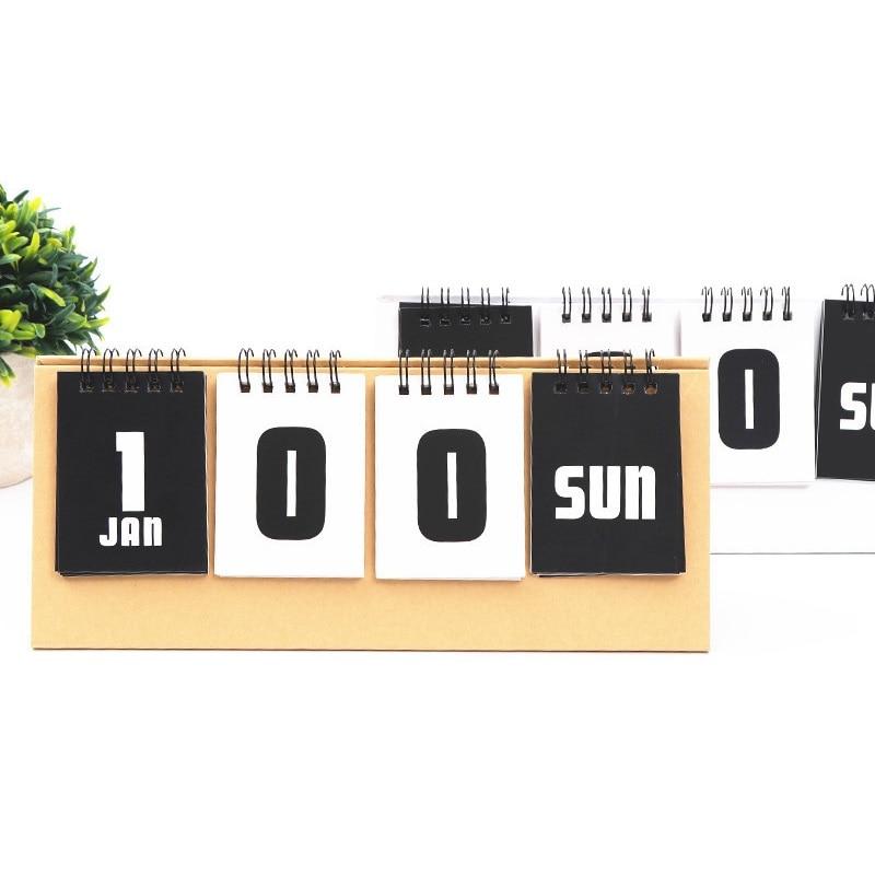 2019 Simple Series Perpetual Calendar DIY Desktop Calendar Agenda Organizer Daily Schedule Planner 2019 bronzing creative desk vertical calendar agenda organizer daily schedule planner 2018 10 2019 12