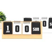 2021 Year Simple Series Perpetual Calendar Kraft Paper Desk Calendar Agenda Organizer Daily Schedule Planner