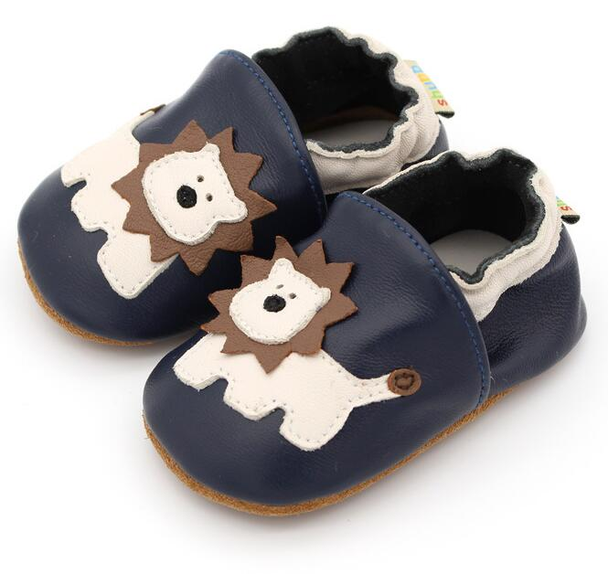 Fashion Soft Sole Genuine Leather Baby Moccasins Non-slip Newborn Baby Shoes 0-24M First Walker Boys And Girls Boot