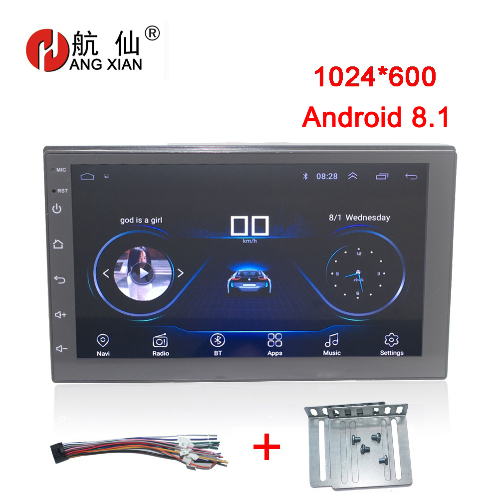 Android 8,1 автомобильный Радио Универсальный Автомобильный dvd-плеер gps навигация для Nissan Tiida QASHQAI x-trail hyundai VW toyota KIA BYD Mazda