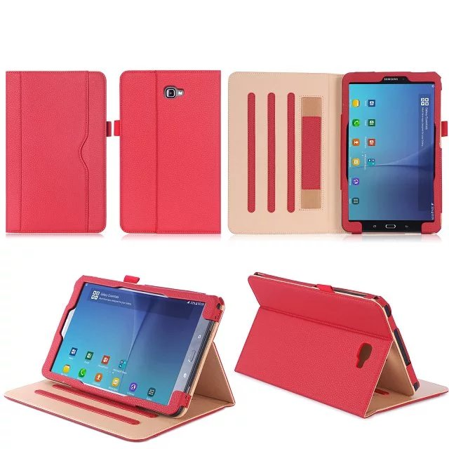 Tablet Case For Samsung Galaxy Tab A SM- T580 T585 T580N 10.1 cardcase PU Leather Flip Cover Shell High quality + Film  + stylus fashion painted flip pu leather for samsung galaxy tab a 10 1 sm t580 t585 t580n 10 1 inch tablet smart case cover pen film