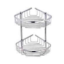 2 Layer SUS 304 Stainless Steel Bathroom Shelf Tripod Bathroom Rack Basket Wall Mount Corner Shelf