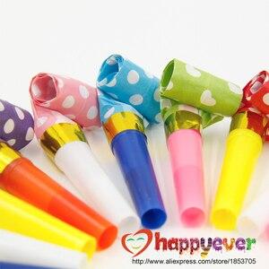 Image 3 - 24 pz Piccolo Multi Colore Scoppi Festa Fischietti Bambini Festa di Compleanno Forniture Decorazione Noicemaker Goody Borse Pinata
