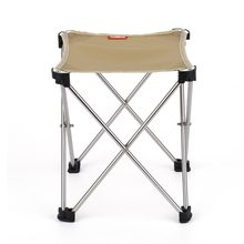 Durable Portable 7075 Aluminum Alloy Oxford Cloth Seat Folding Little Chair for Outdoors Camping Hunting Fishing Picnic(China)