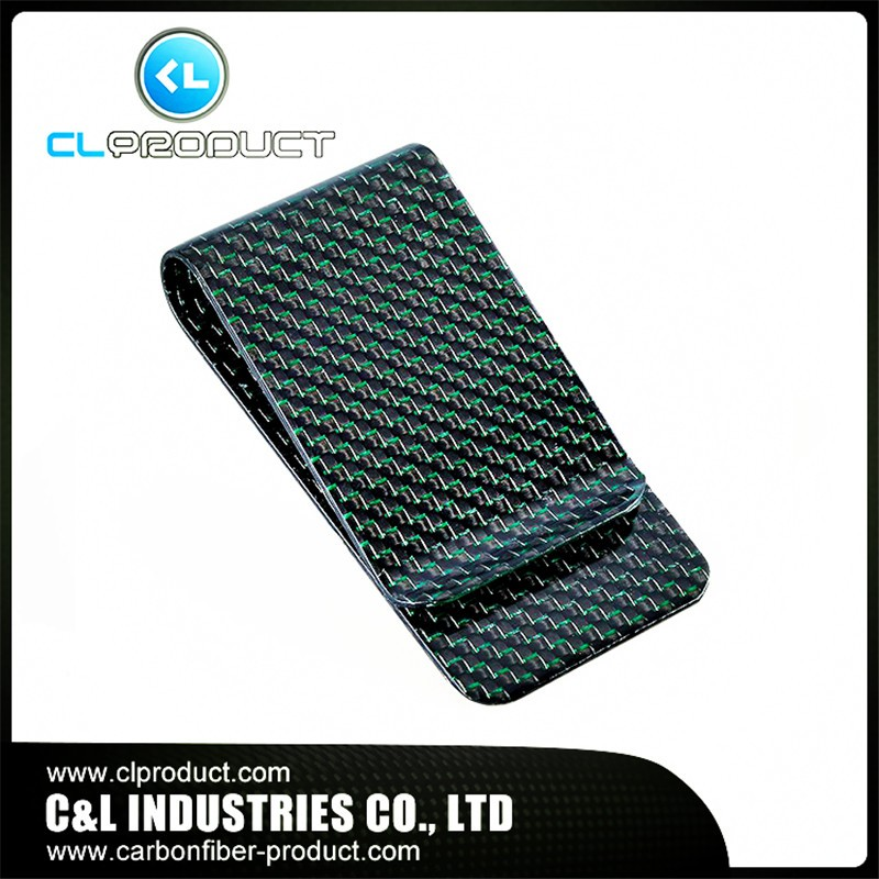 Carbon fiber money clip Green (1)
