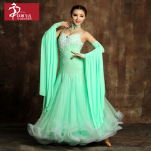 2017 Limited Real Dance Skirts Dancing Dress Newest Design Woman Modern Waltz Tango Dress/standard Competition Costume S9001