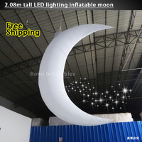 Цвет изменение светодиодное освещение надувные Луны надувные полумесяц этап декоративные украшения партии inflatabl Moon