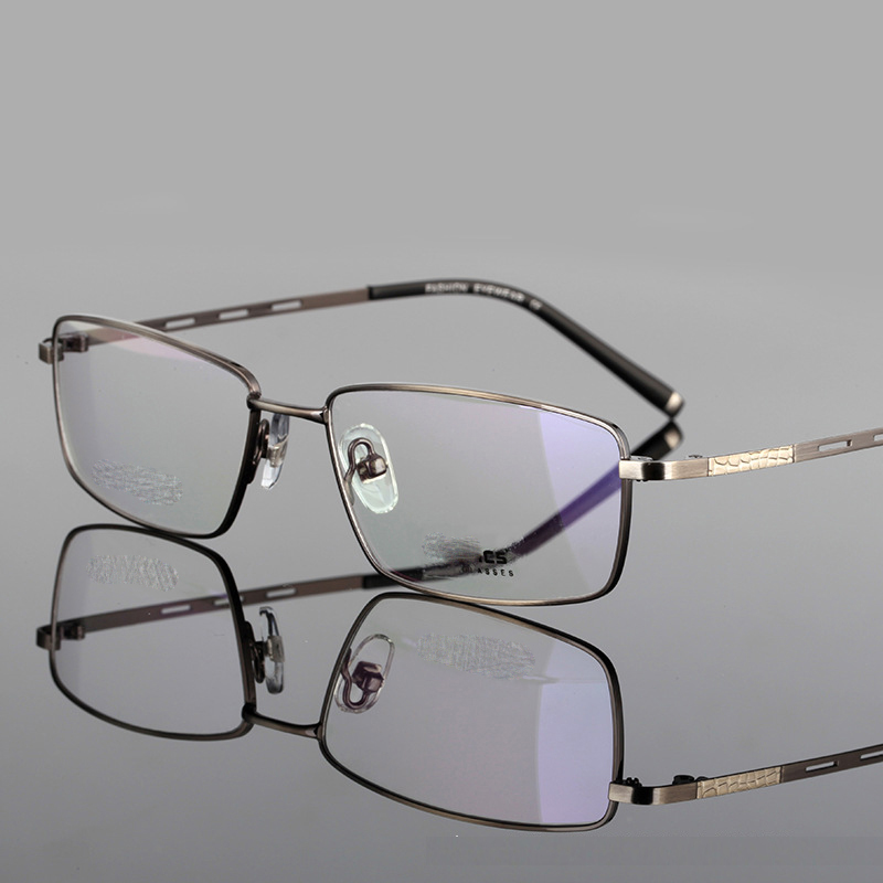 Ultra-light Titanium Spectacle Frame Reading Glasses Men Business Eyewear High Quality Comfortable Reading Eyeglasses 1.0 2.5