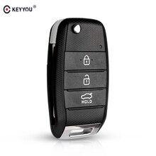 Замена KEYYOU 3 кнопки для Kia KIA K2 K3 K5 Carens Cerato Forte Автомобильный Брелок чехол корпус дистанционного ключа чехол откидной складной