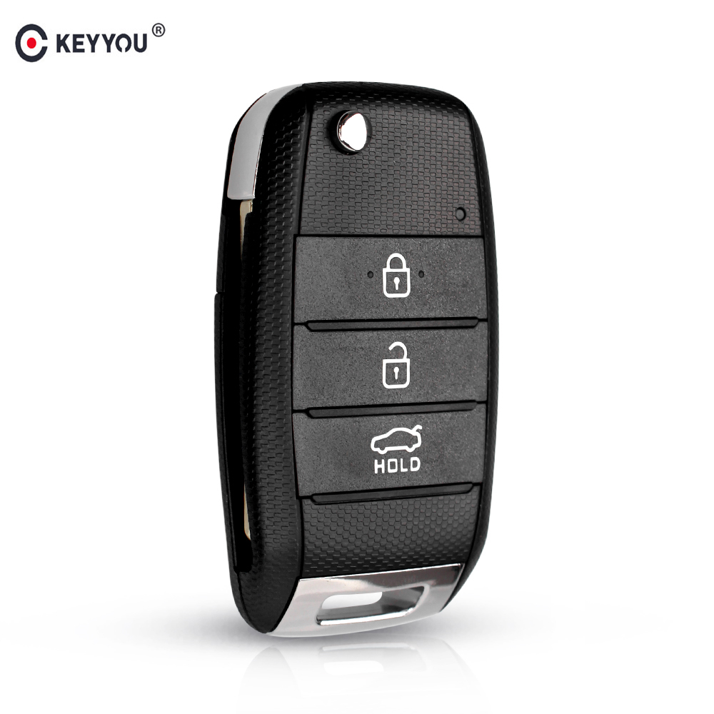 KEYYOU Replacement 3 Buttons For Kia KIA K2 K3 K5