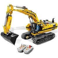 Technic MOTORIZED EXCAVATOR Building Blocks Electric Motors Power Functions Model Bricks Compatible With Legoings Technic 8043
