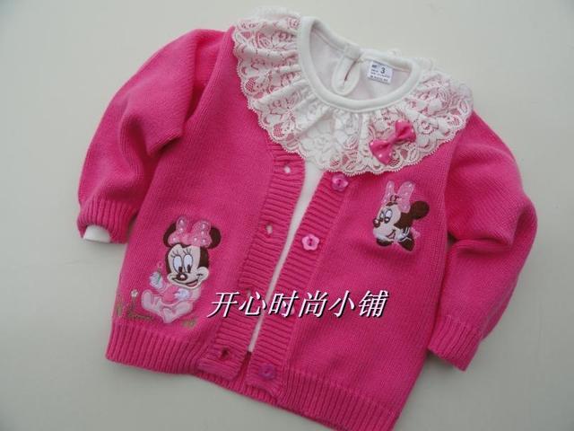 0f7796249 free shipping Autumn child sweater baby girls 100% cotton sweater ...