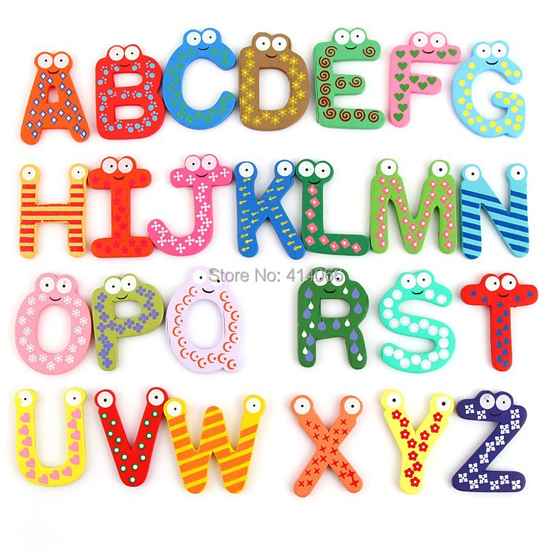 alphabet block baby toys are learning educational toycan used as fridge magnets alphabet