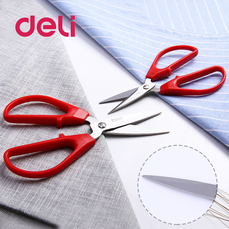 Deli 1pcs Stationery Scissors, Stainless Steel Scissors, Office Scissors, Paper Cutting Scissors 6036