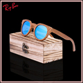2017 Bamboo Sunglasses Men Wooden Sunglasses polarized Brand Designer Mirror Original Wood Sun Glasses Oculos UV400 free ship