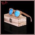2017 gafas de Sol de Los Hombres Gafas De Sol De Madera De Bambú Espejo de Madera Originales Gafas de Sol polarizadas Diseñador de la Marca Oculos UV400 envío gratis