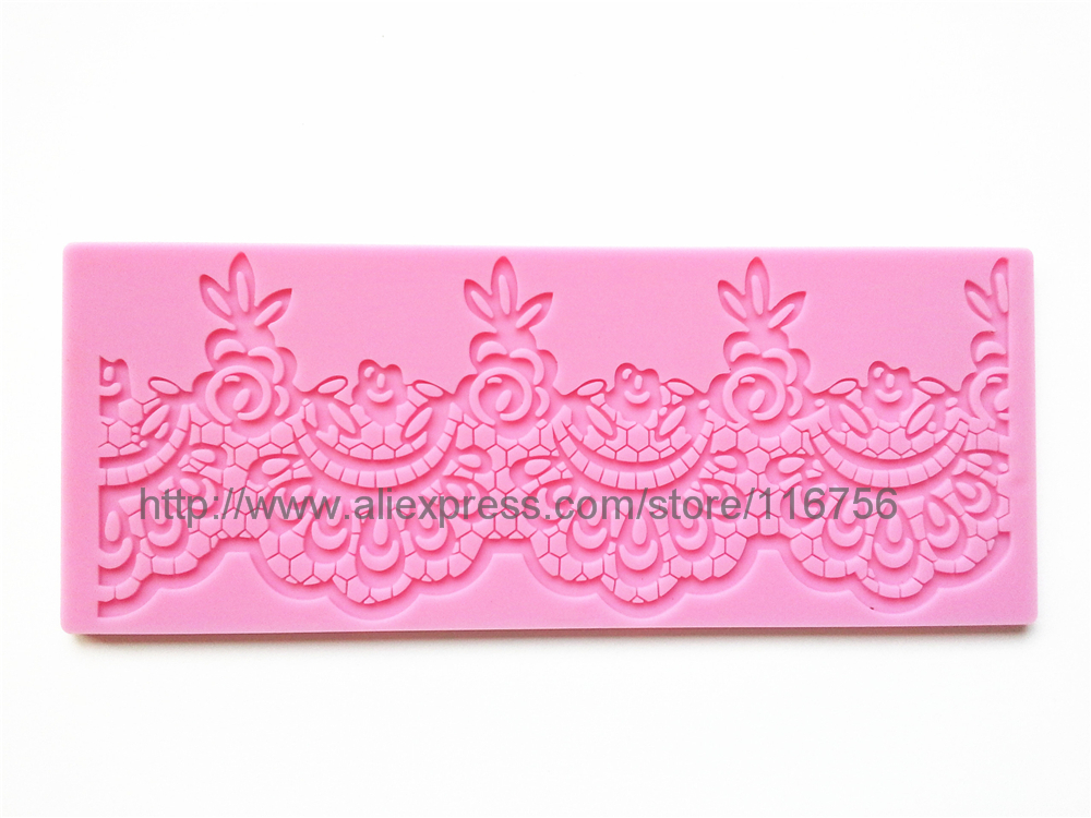 Best Seller! Free Shipping Fondant Cake Instant Lace Silicone Mold Sugar Paste Sugar Art Tools Cake Decoration LM-08