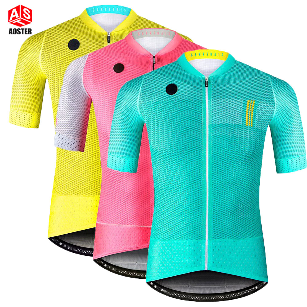 AOSTER 2018 Cycling Jerseys Keep Dry Mesh high quality Cycling Clothing Mountain Road MTB Bike Bicycle Jersey Sports Jerseys high quality hello kitty cycling jerseys mtb road bike clothes short sleeve large size sports jersey for girls
