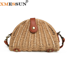 Clutch Purse Crossbody-Bag Straw-Shell-Bag Messenger-Bags Beach-Bag Women Handbag Shoulder