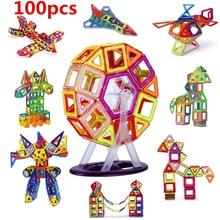 Vavis Tovey 100PCS Mini blocks construction kid Designer Magnetic Magnet model building toys enlighten стоимость