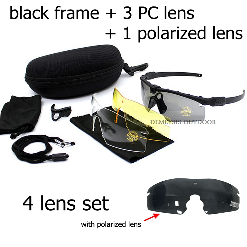 Exellent Quality Tactical Polarized Glasses Army Goggle Eyewear Shooting GLASS For Men Sport Solbriller For Wargame