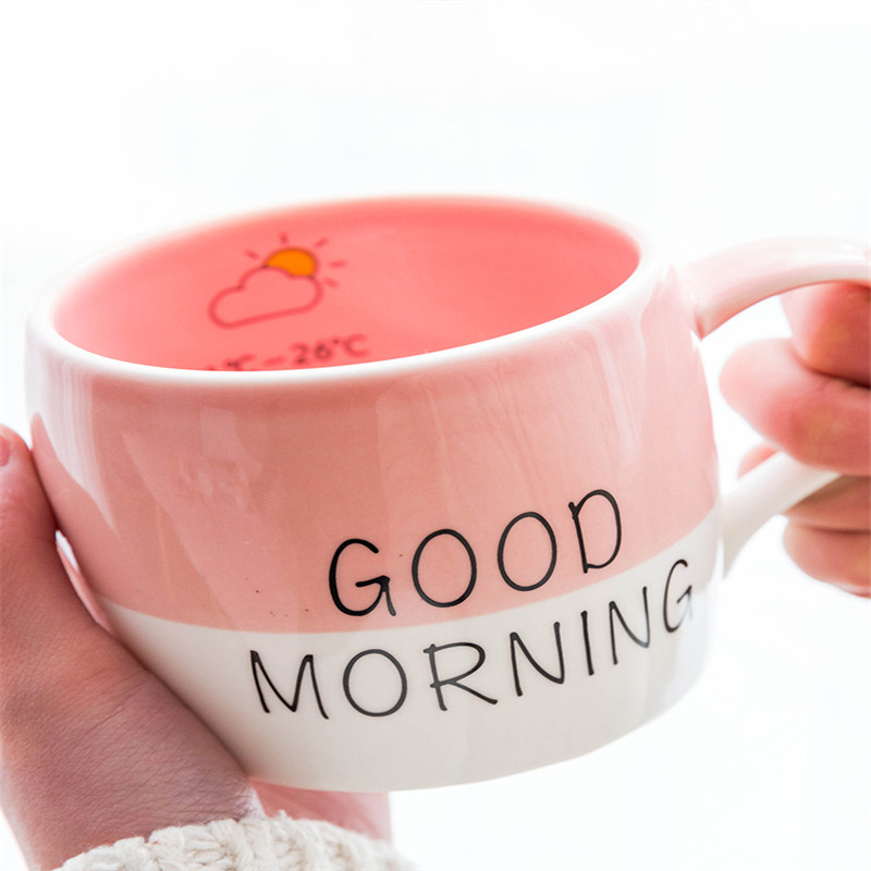 3081c7b9ab2 Creative Flamingo Ceramic Milk Coffee Mug Tea Breakfast Cup Good Morning Coffee  Mugs Ceramics Pink Cup Lover's Birthday Gift-in Mugs from Home   Garden on  ...