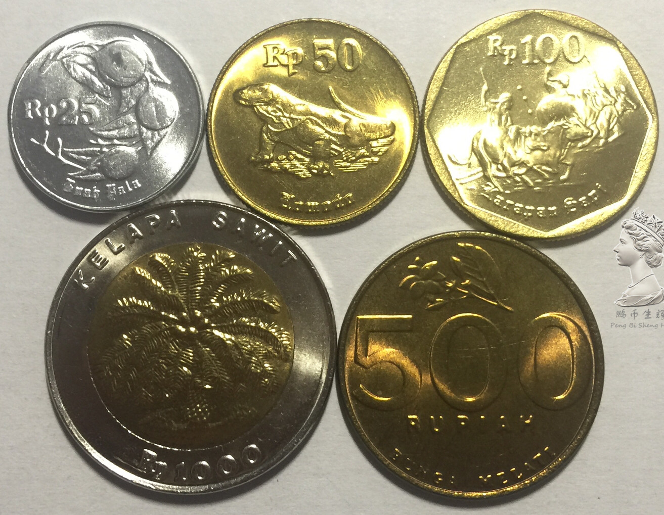 world coins lot Asia Indonesia 6 Coins set birds new UNC