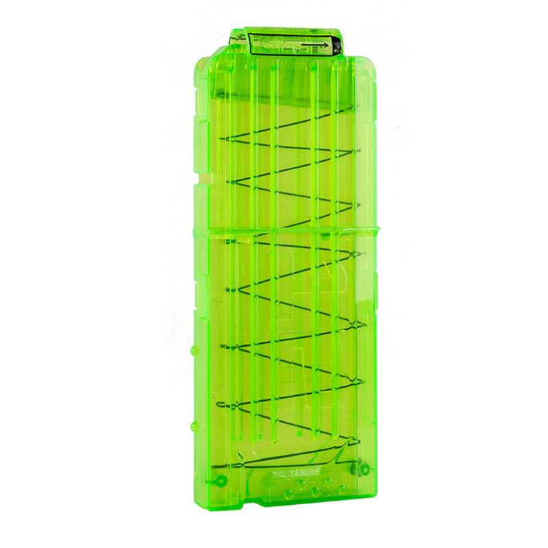 High Quality Green Bullet Magazine Clips Bullet Clips Cartridge Suitable For Sponge Foam Bullets Suitable For NERF Drop Ship 20#