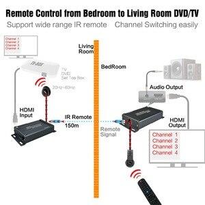 Image 3 - HSV891 IR HDMI エクステンダー以上の TCP IP IR 制御と 3.5 ミリメートルオーディオジャック、 Hdmi 送信機と受信機 1080 経由 Utp/STP Rj45