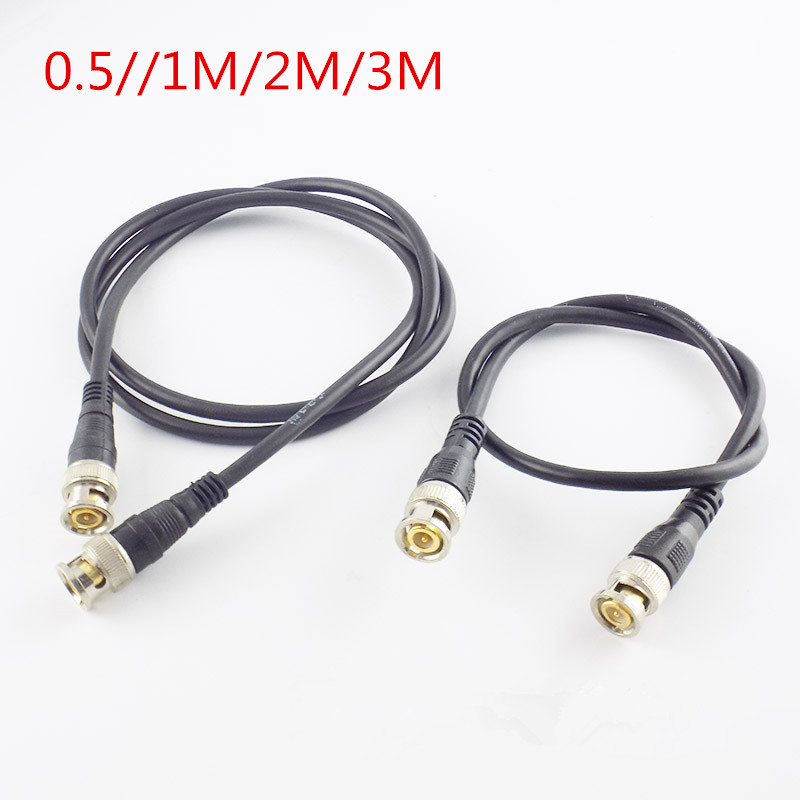 0.5M/1M/2M/3M BNC Connector Cable BNC Male To Male Adapter BNC Cable Extension BNC Adapter Cable For CCTV Video Camera Connector
