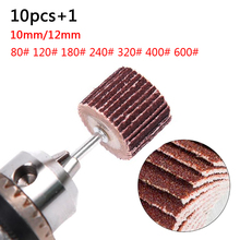 Roue à lamelles à grain chaud 80 120 180 240 320 400 ponceuse disque de ponçage de remplacement meuleuse Abrasive outil rotatif Mini perceuse Dremel
