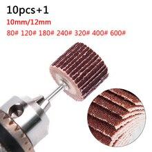 Sıcak Grit flap zımpara 80 120 180 240 320 400 600 zımpara zımpara disk değiştirme aşındırıcı taşlama döner aracı Dremel Mini matkap
