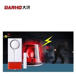 Image 3 - Darho 2PCS  433MHz Door Window Entry Security Burglar Sensor Alarm PIR Door Magnetic Wireless Alarm System Security Wholesell