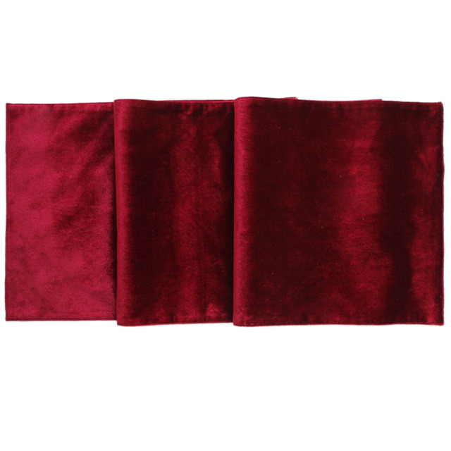 Free Shipping Christmas Velvet Table Runner Manufactured Red/green Runners