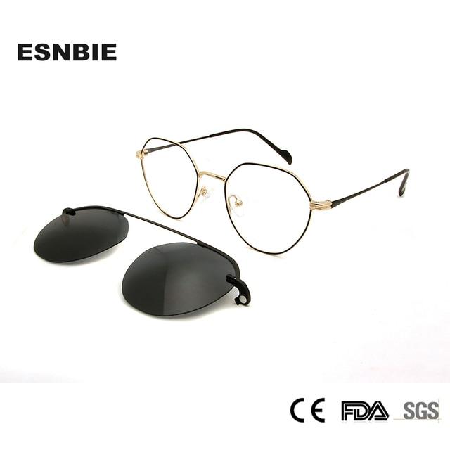 2b133ecff040 Womens Korean Glasses Frames Round Magnet Clip On Sunglasses Glasses Myopia Women  Eyeglasses Frame Alloy Ladies Glasses Clear