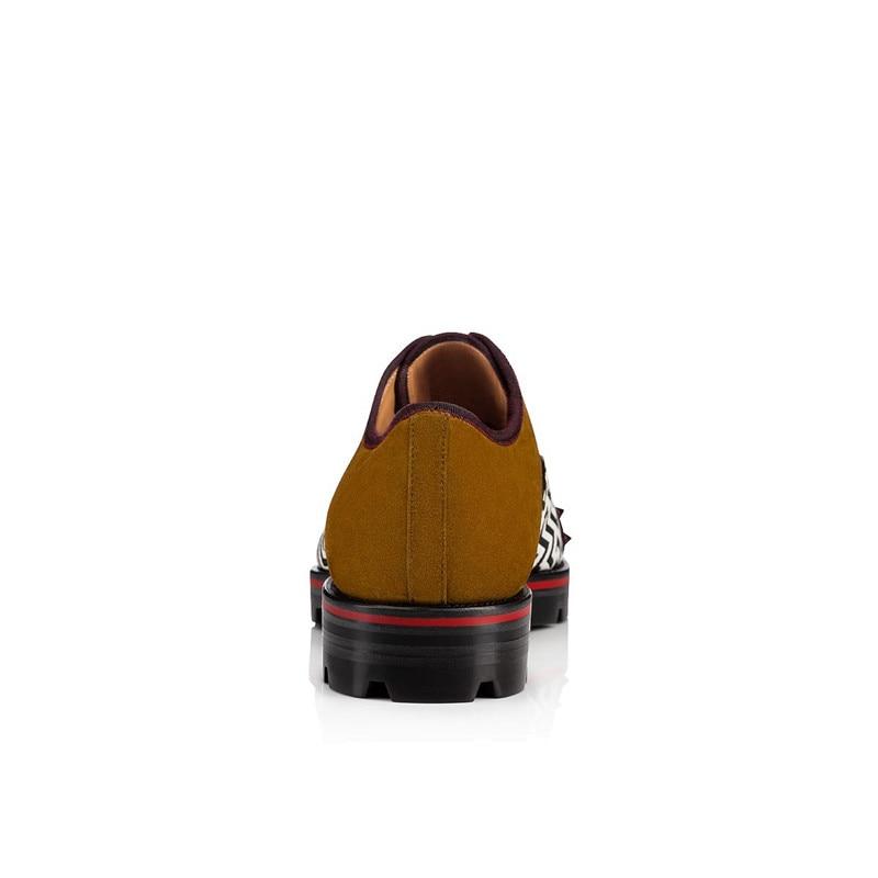 SHOOEGLE Outono Novos Homens Patchwork Sapatos Rebite