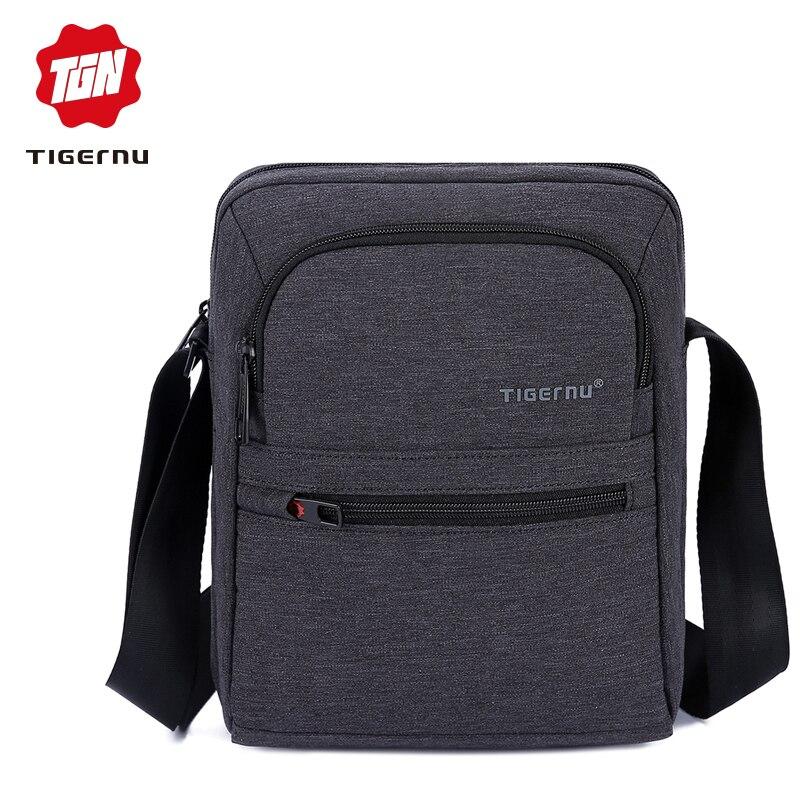 2018 Tigernu Brand High Quality Men 's Messager Bag Mini Business Shoulder Bags Casual Summer Bag Women Cross body Bag Male цена