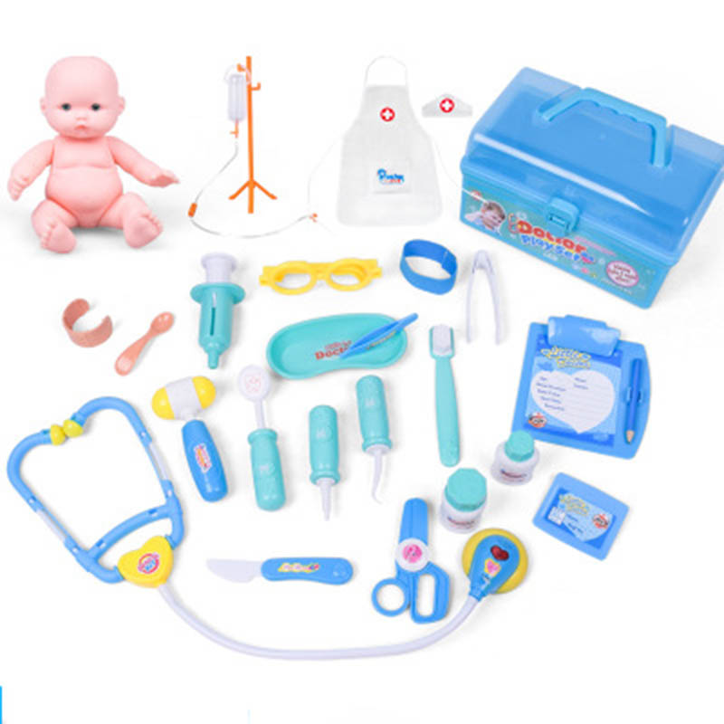 20 pcs/Set Doctor Toys Play Set Children Play House Toys Medical Kits Classic Toys Simulation Medicine Girl nurse toy cosplay