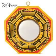 KiWarm Lucky Chinese Feng Shui Dent Convex Bagua FengShui Spiegel Taoïstische Talisman Energie Woondecoratie Ornament(China)