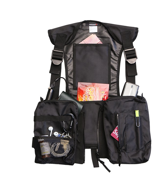 Reflective Stripe hip hop kanye west Chest Rig Military tactical chest bag Functional package prechest Tactical
