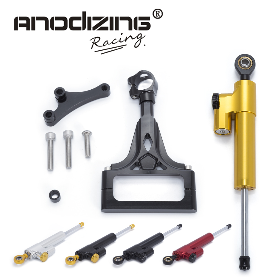 Motorcycle CNC Steering Damper Stabilizerlinear Reversed Safety Control with Bracket For KAWASAKI Z1000 Z750 2003 2004 2005-2009 gt motor motorcycle cnc steering damper stabilizerlinear reversed safety control with bracket for yamaha mt09 mt 09 fz 09 13 17