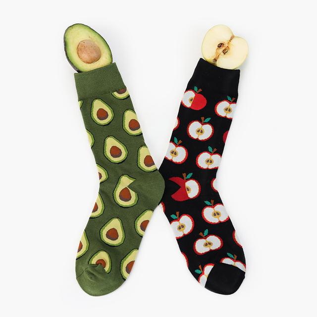 Avocado Pattern Socks