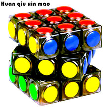 цена на Brand New Transparent Magic Cube 3x3x3 Speed Puzzle Cube Game Dot Shape Cubos Magicos Profession Puzzle Game Toys Gift