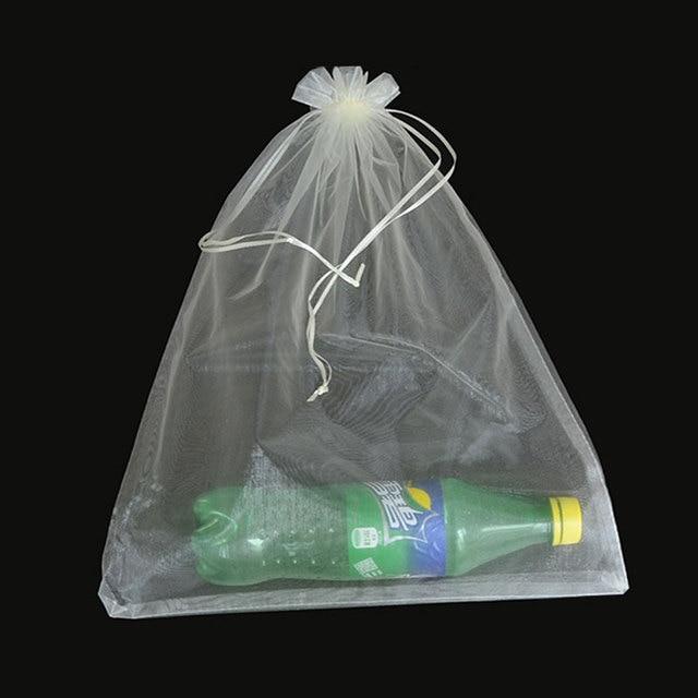 50 unids/bolsa 30x40cm 35x50cm bolsas de Organza para ropa bolsas paraguas bolsa de embalaje para joyería con cordón