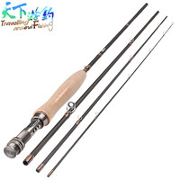 Fly Fishing Rods 2 4m 2 7m Carbon 4Section Canne Peche Spinning Stand Rod Guide De
