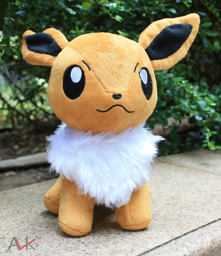 23cm big size stand Eevee Plush Toys Cute cartoon Soft Stuffed Animal Doll with Tag for Kids Christmas gift