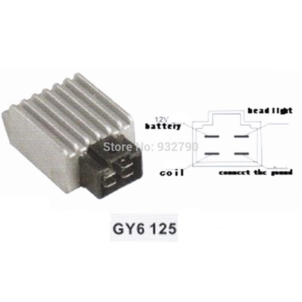 12V 4 Pin Plug Voltage Regulator Rectifier 50cc 70cc 90cc 110cc 125cc 150cc For MOPEDs ATV 125cc motorcycle picture more detailed picture about 12v 4 pin Ignition Coil Wiring Diagram at gsmportal.co