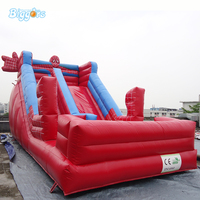Factory Direct Attractive Cartoon Inflatable Slide Bouncer Slide Game