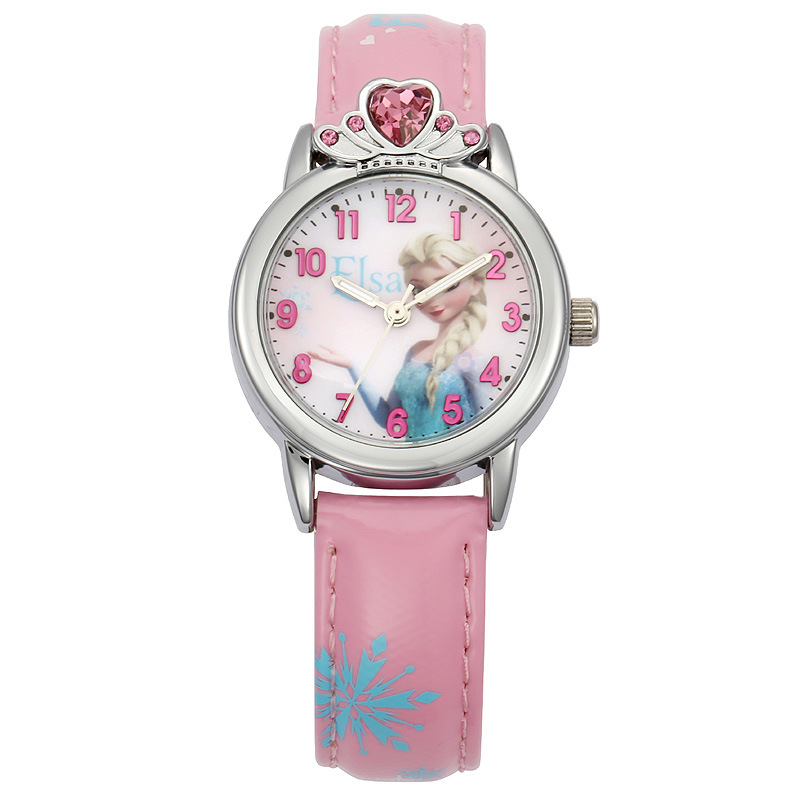 Watches 100% Genuine Disney Brand Watches Frozen Sophia Minnie Watch With Necklace Fashion Luxury Watch Men Girl Wrist Watch 2018 New